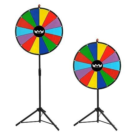Megabrand 24 Color Dry Erase Clicker Prize Wheel 14 Slot With Tripod