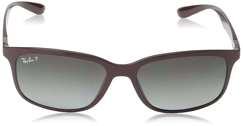 327e6623b57 Amazon.com  Ray-Ban RB4215 Sunglasses Dark Violet   Polarized Grey Gradien  57mm  Shoes