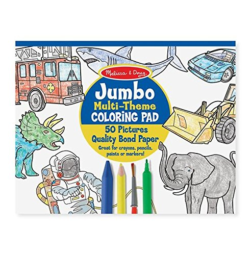Coloring Pad (Melissa & Doug Jumbo 50-Page Kids' Coloring Pad - Space, Sharks, Sports, and More)