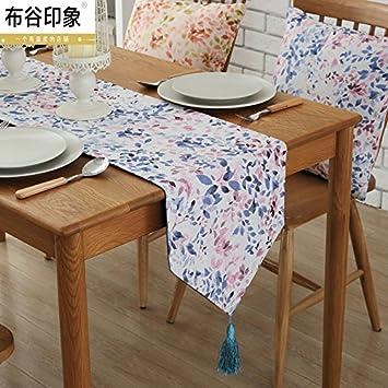 YM @ YG servilletas de tela Tela jardín mesa camino restaurante toallas autoadhesivo Salón Mesa TV Stand Muebles negocio Showroom mesa camino: Amazon.es: ...