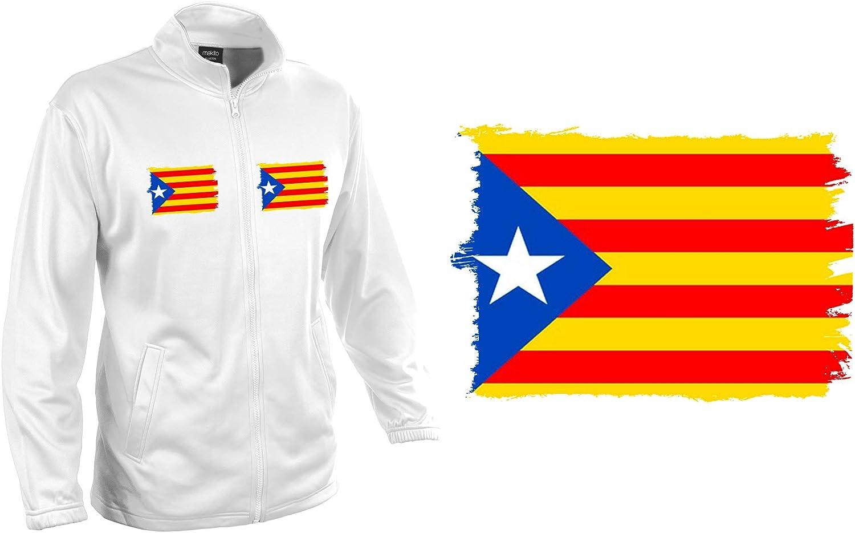 MERCHANDMANIA Chaqueta Tecnica KLUSTEN 2 Dibujos Bandera CATALUÑA Independencia Jacket Custom: Amazon.es: Ropa y accesorios