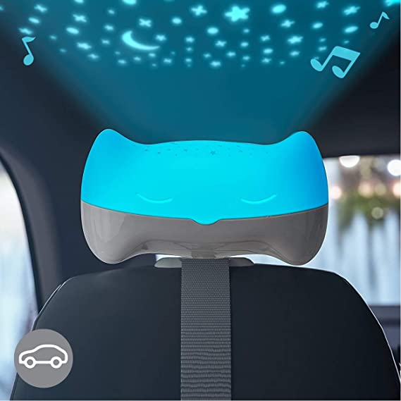 for Use at Home or On-The-Go Sound and Sleep Projector with Glowing Night Light and Starlight Projection Image for Nursery or Car BENBAT Hooty Baby Soother and Projector