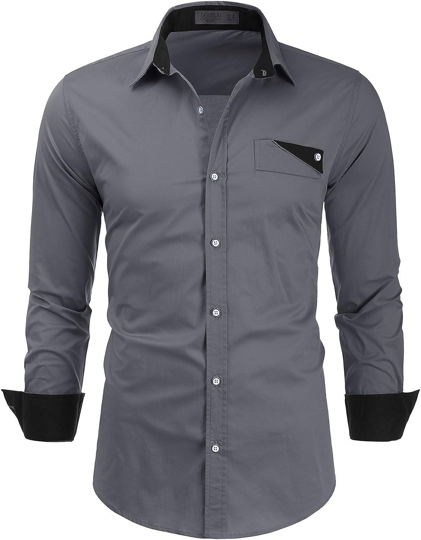 Doublju Vestido de punto de botón bolsillo camiseta