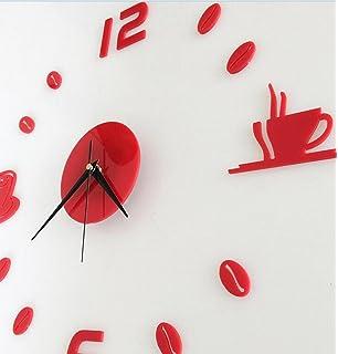 LuckES Creative Wall Clock 3D reloj de pared decoración para el hogar Room Wall Design Reloj