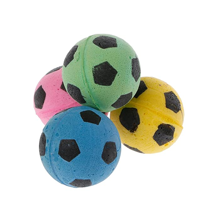 Amazon.com: Milue 20PCS Non-Noise Cat EVA Ball Soft Foam Soccer Play Balls For Cat Scratching Toy: Toys & Games