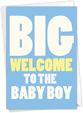 New Born Birth Baby Grandson Card Welcome Congratulations Envelope Included