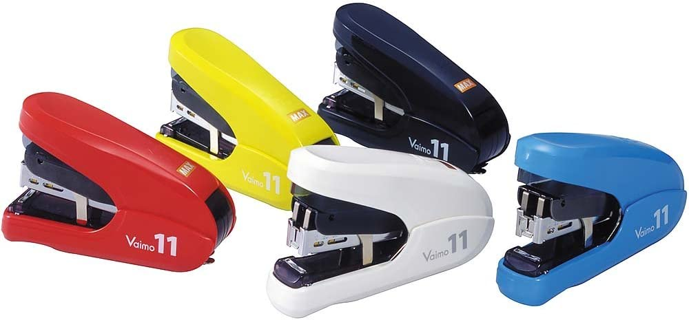 35 Sheets Max Vaimo HD-11FLK Flat Clinch Stapler with 3 Boxes Staples