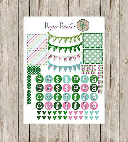 Easter & St  Patrick's Day March Month Planner Kit Made To