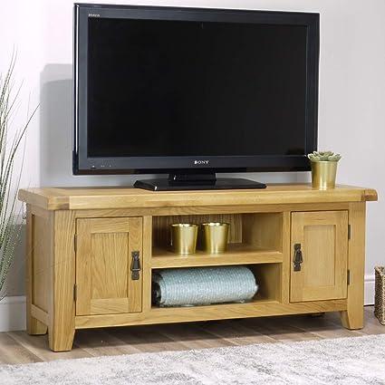 Arklow - Mueble para televisor (Roble y 2 Puertas, tamaño Grande), Color Roble: Amazon.es: Hogar