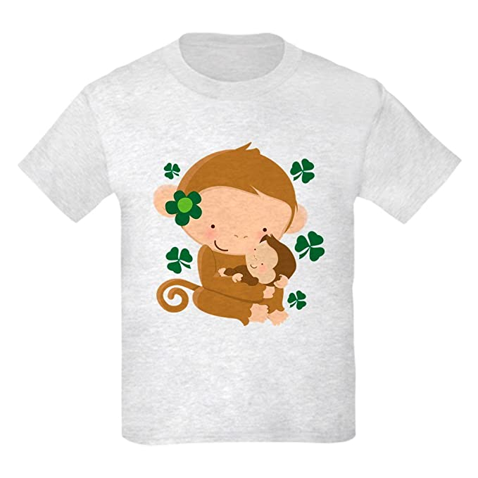 7203c547c Amazon.com: CafePress - Irish Monkeys Shamrock - Kids Cotton T-shirt ...