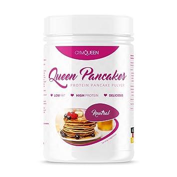 GymQueen Mezcla para preparar tortitas proteicas, Pancake Mix - Tortas proteícas Neutral, 500 gr