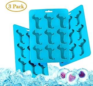 Bandeja de silicona para cubitos de hielo, con forma de perro ...