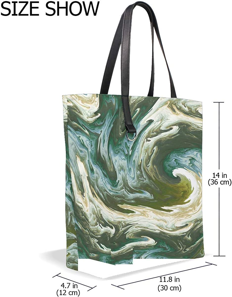 Fractal Twisted Wavy Tote Bag Purse Handbag For Women Girls