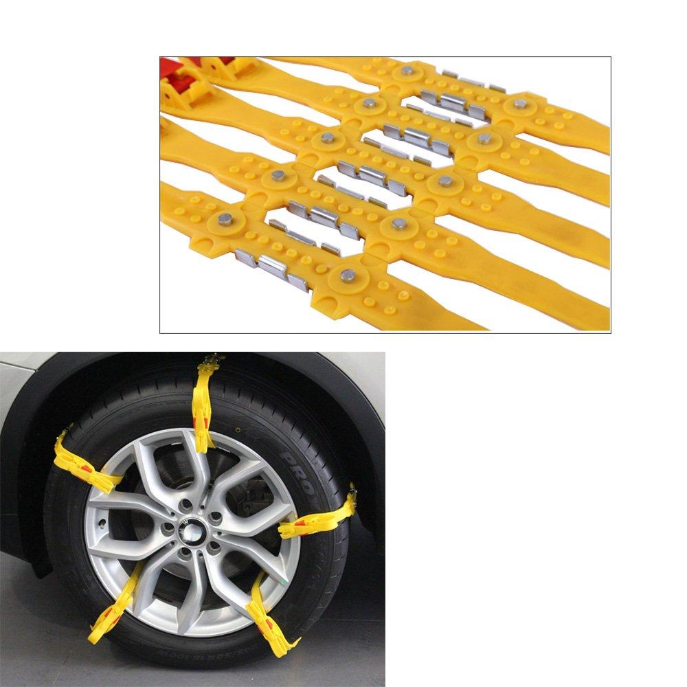 Hex Autoparts 10PCS Reusable Tire Snow Chain Car SUV Light Truck Snow Tire Anti-Skid Strap