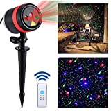 Lightess Laser Christmas Lights Outdoor Light Projector Waterproof Xmas Decorations Red Blue and Green Laser Light Galaxy Star Show Spotlight with Remote for Holiday Party Landscape Indoor Decor