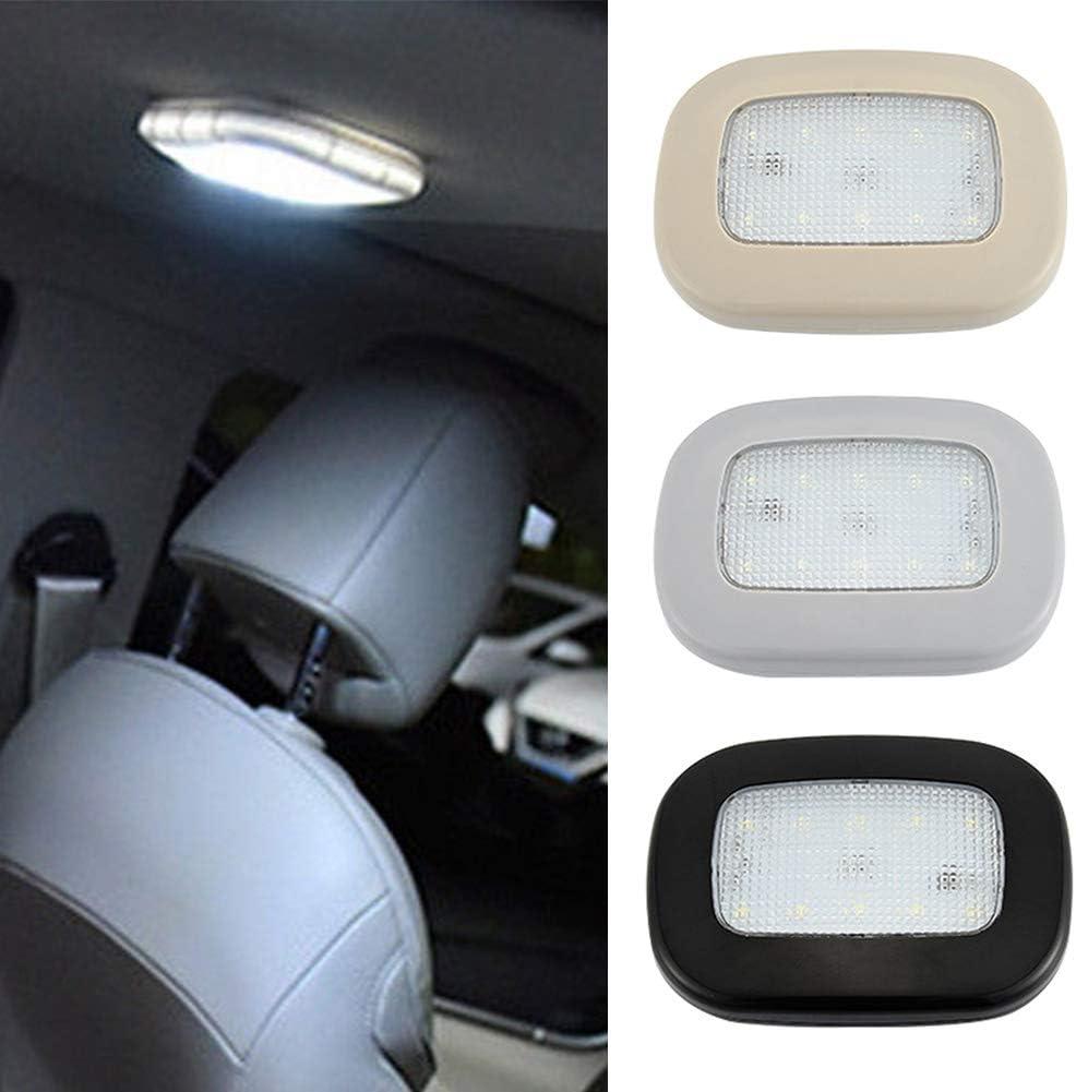 SYN Nero Ricaricabile con USB Universale Wireless per Auto Plafoniera a LED luci Targa luci notturne White Light Magnetica