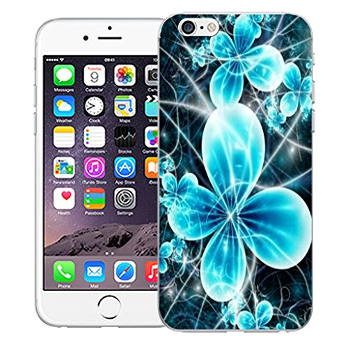"""Mobile Case Mate iPhone 6 Plus 5.5"""" Silicone Coque couverture case cover Pare-chocs + STYLET - Futuristic Flower pattern (SILICON)"""