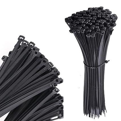a17f2d50296e MONBLA Nylon Cable Tie Black Cable Wire Zip Ties Premium Heavy Duty Tie  Wraps Cable Management