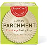 PaperChef 70030 Culinary Parchment Baking Cups, X-Large, 30