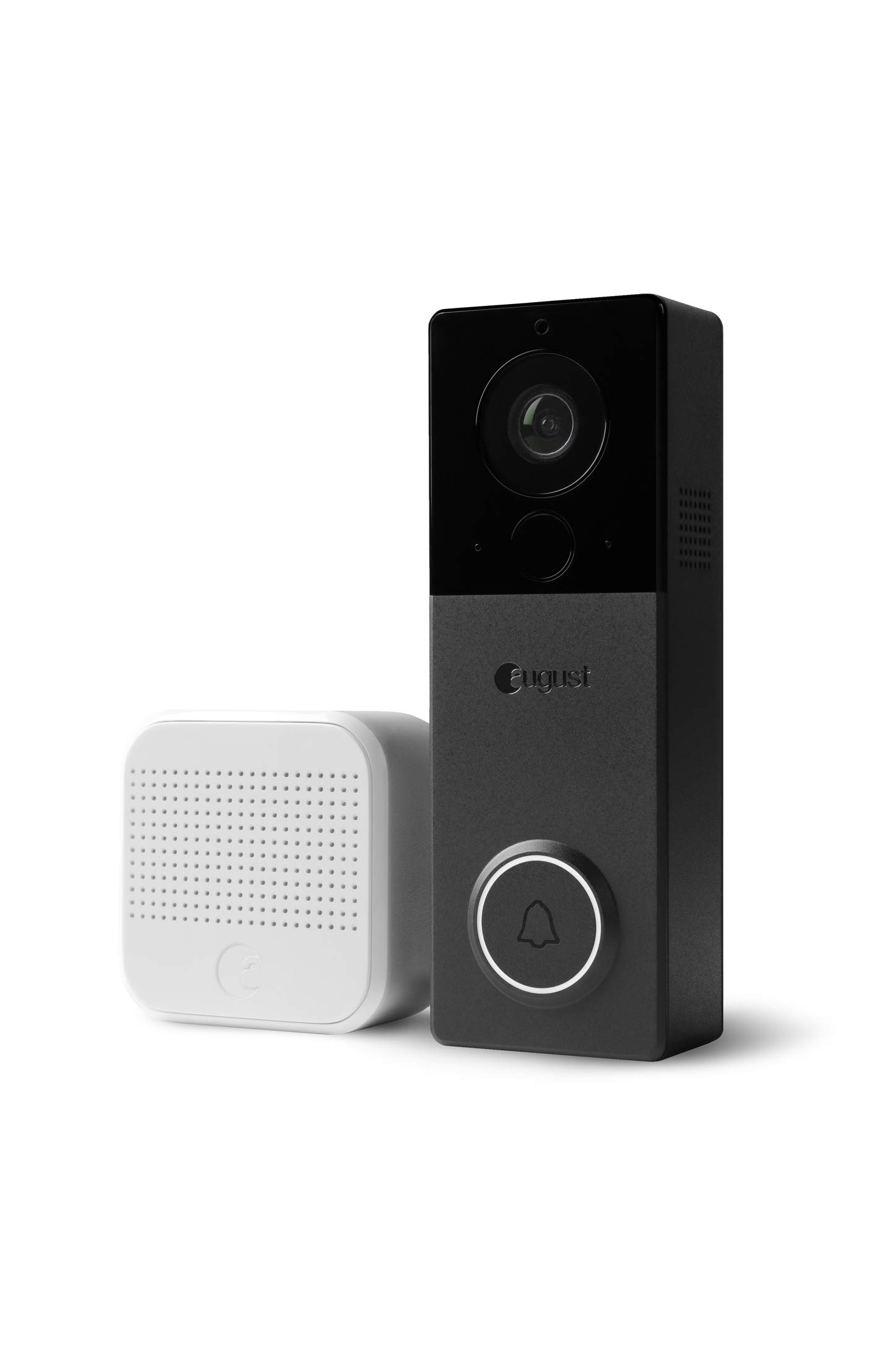 August AUG-AB03-C04-001, August View, Wire-Free Doorbell Camera, Black