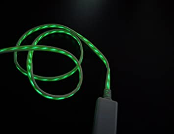 WELUV LED USB Kabel Ladekabel Datenkabel EL Handy: Amazon.de ...