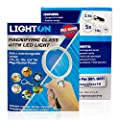 LED Magnifying Glass with Light by LightOn With 4 Interchangeable Lenses 2.5x 5x 10x & 16x Magnification Power Perfect for Maps Detailed Repair Senior Reading Jewelry Flowers & Insects Coins and More!