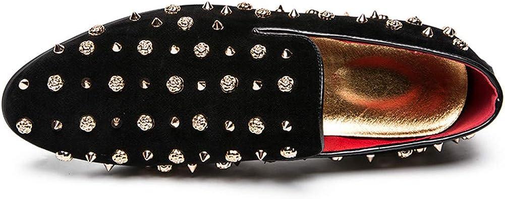 Designer Spiked Dress Men Shoes Studded Suede Leather Oxford Shoes Men