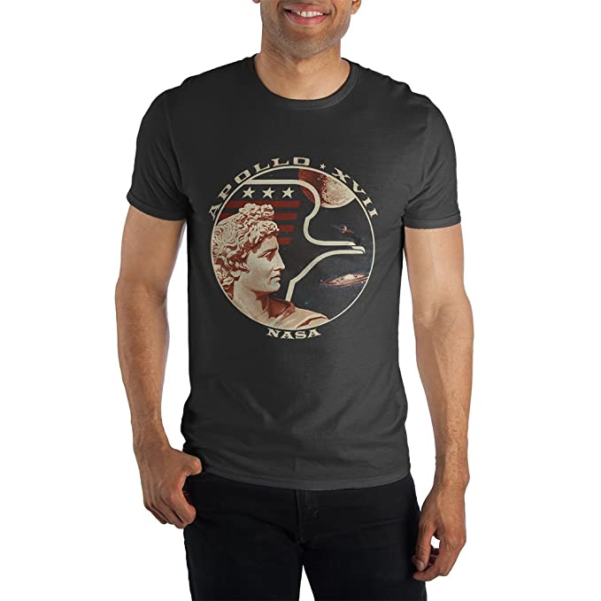 Amazon.com: Bioworld Nasa Apollo 17 XVII playera negra de ...