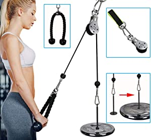 PELLOR Forearm Wrist Trainer Arm Strength Training Rope Cable Pulley System