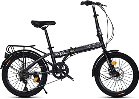 TZYY Bicicleta Plegable 20 En Fibra De Carbono,Mini Compacto Plegable City Bike,Ultra Ligero Adulto Bike Plegables Cambio De 7 Velocidades A 20in: Amazon.es: Deportes y aire libre