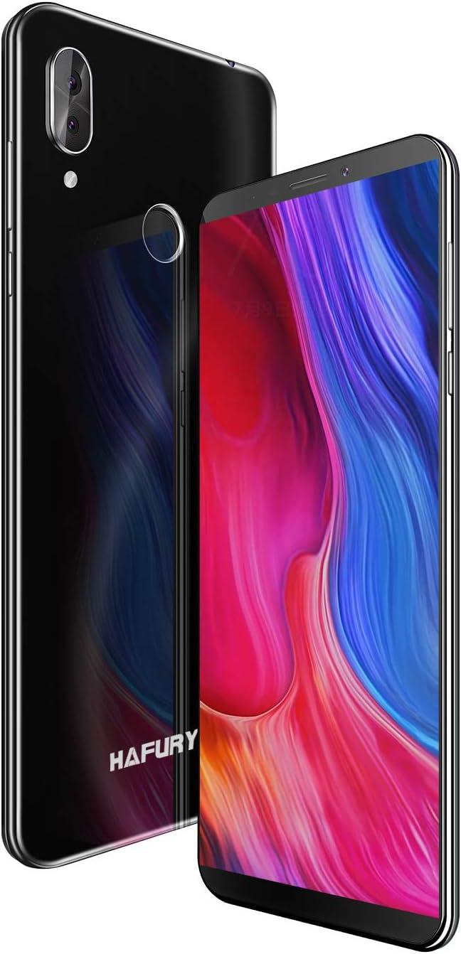 HAFURY Note 10 4G Android 9 Dual Sim Smartphone Libre Desbloqueado, Pantalla 5.93 Inch FHD con batería de 4000Mah, 4GB RAM+32GB ROM, Ampliable hasta 128 GB, teléfono móvil Doble cámara 8MP+16MP,Negro