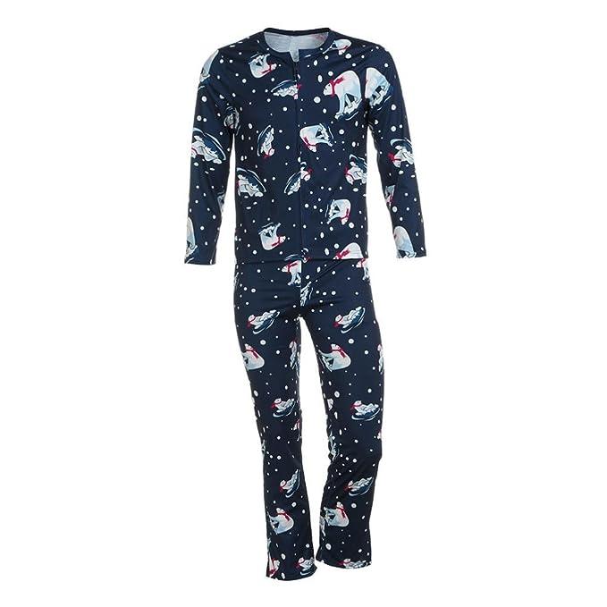 Christmas Family Pyjamas zycShang Hombre Mujer Bebé Oso T shirt Tops Blusa Pantalones Conjuntos de ropa