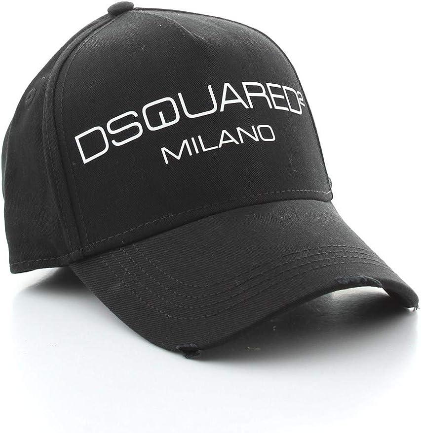 DSQUARED2 Gorra Milano BCM026705C00001 Color Negro.: Amazon.es ...
