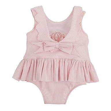 0b90d73e3d Amazon.com  Mud Pie Baby Girls Seersucker Swimsuit (0-3 Months ...