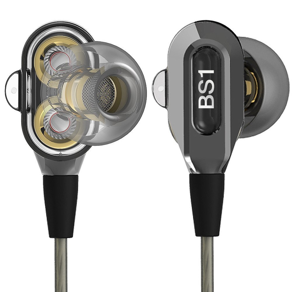 Actionpie in-Ear Headphones Earbuds High Resolution Heavy Bass with Mic Suitable for Phone iPad iPod Smart Android Cell Phones HTC Lg G4 G3 Mp3 Mp4 Earphones - Gray
