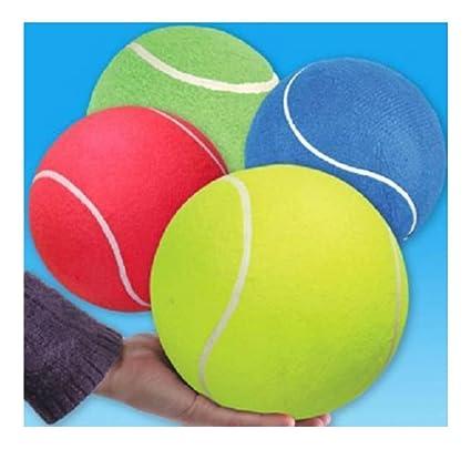 Amazon Com Jumbo Tennis Ball 8 5 Assorted Colors Dog Play Chew Toy