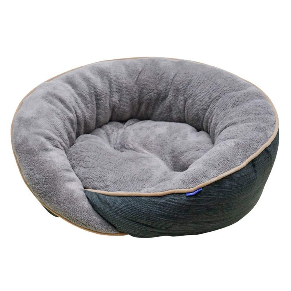 bluee S bluee S Soft Pet Dog Bed Puppy Cushion House Soft Fleece Pet Nest Kennel Puppy Cat Mat Blanket Pet Supplies Small Animal Beds (color   bluee, Size   S)
