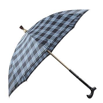 atree bastón paraguas, paraguas bastón mango en T, Super reforzado long-stem paraguas