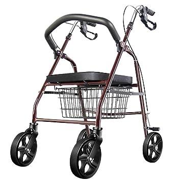 NYPB Andador para Ancianos de 4 Ruedas, con Frenos en ...