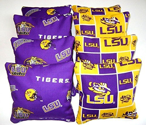 8 Cornhole Bean Bags Louisiana Lsu Tigers All Weather Waterproof Washable by Generic