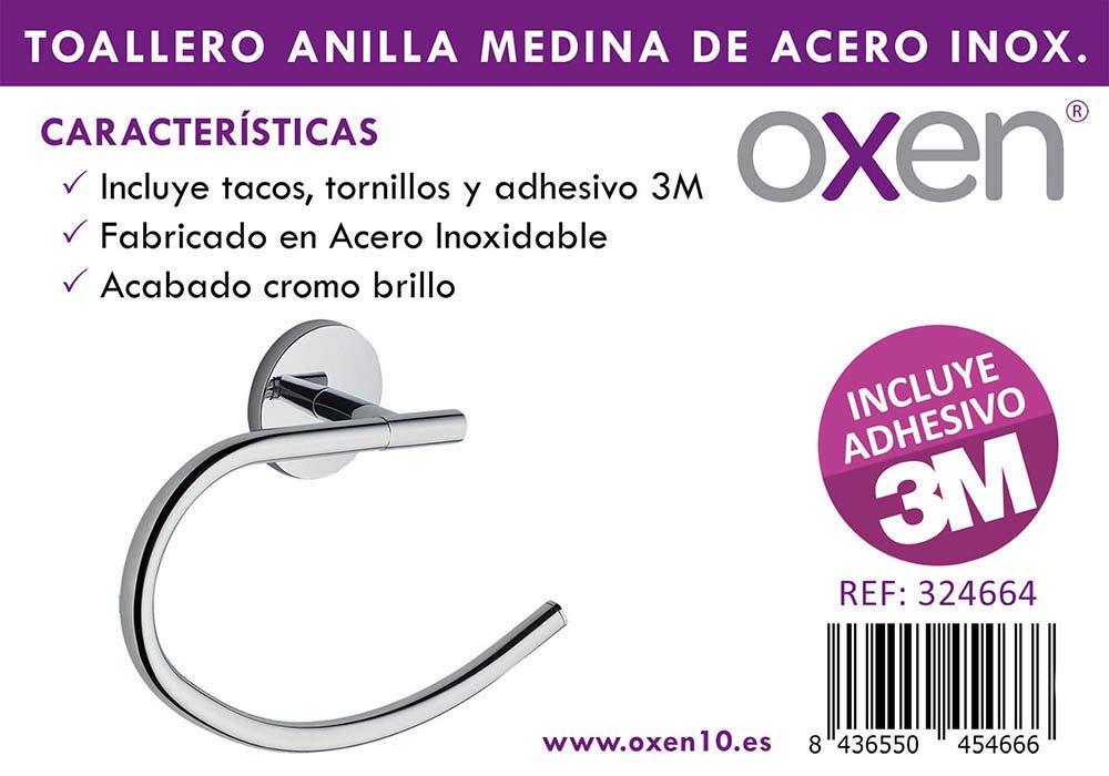 Oxen 324664 Anneau Serviettes de Dessin Chrome Brillant