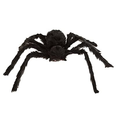 WINOMO Black Large Spider Halloween Decoration Haunted House Prop Plush Spider Scary Decoration: Toys & Games