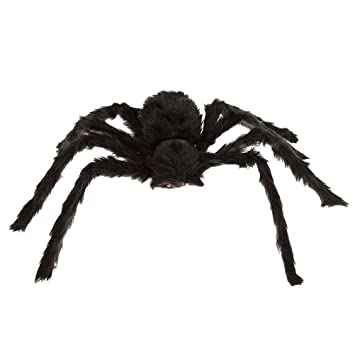winomo black large spider halloween decoration haunted house prop plush spider scary decoration - Spider Halloween Decoration