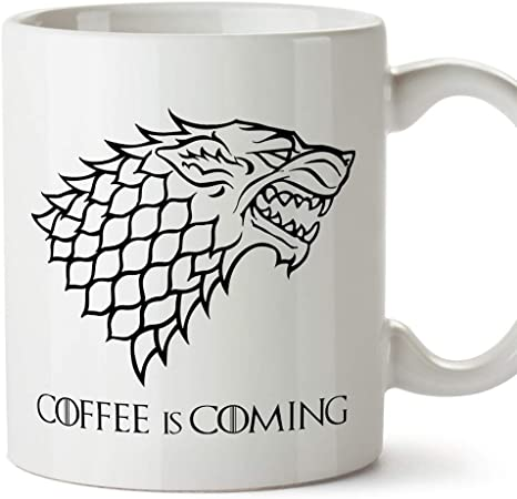 de haute qualit/é tasse /à th/é caf/é Coffee is Coming Game of Thrones Parodie