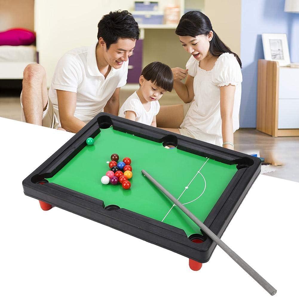 VGEBY Juguete de Las mesas de Billar Mini, Juego de Mesa de Billar Americano portátil Juguetes de Escritorio para el Partido en casa Juego de Amigos de la Familia: Amazon.es: Deportes y