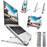 Homesuit Laptop Stand, Aluminum Computer Riser,9-Angles Adjustable Ventilated Notebook Stand Mount for Desk, Metal…