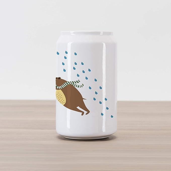 Amazon.com: Lunarable Cartoon Cola Can Shape Piggy Bank ...
