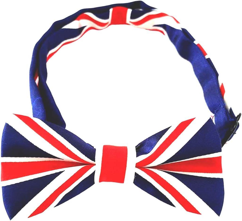 Zubeh/ör Union Jack 2 St/ück Urlaub Party patriotische Fliege Haustierpflege B mit verstellbarem Band BIPY Fliege f/ür kleine Hunde f/ür Bank