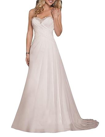 Oyisha Women S Strapless Sweetheart Beach Wedding Dresses Long Beaded A Line Bridal Gowns 84wd