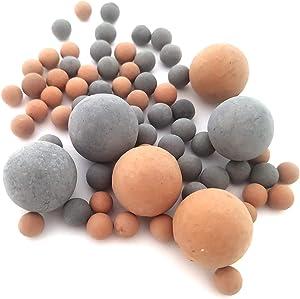 MEIMEI Shrimp Mineral Balls for Freshwater Aquarium Tank.Tourmaline for PH Balance.Decorate Aquarium Tank,Tropical Fish Mineral Stones.